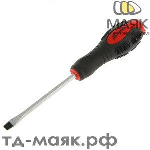 Отвертка ударная MATRIX, SL6*100мм,двухкомпонентная рукоятка,CrV